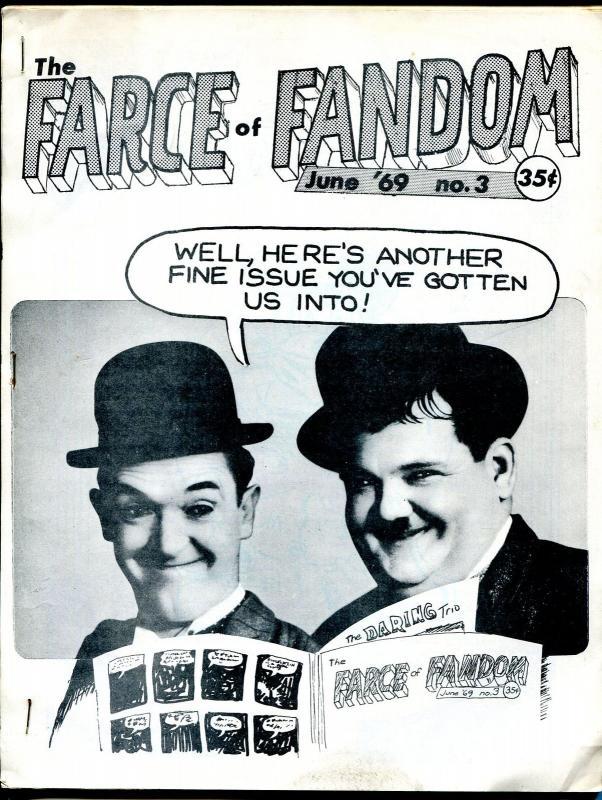 Farce of Fandom #3 1969-Mark Evanier-mimeo type publication-King of Comics-VG