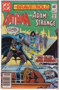Brave and the Bold   vol. 1   #190 FN Batman/Adam Strange, Barr/Infantino