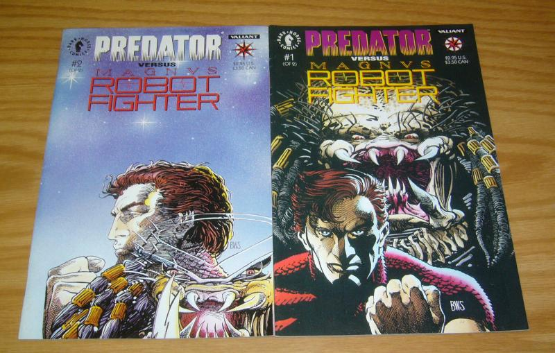 Predator vs Magnus Robot Fighter #1-2 VF/NM complete series - dark horse comics