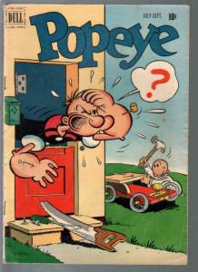 Popeye #17 1951-Dell-Bud Sagendorf art-VG