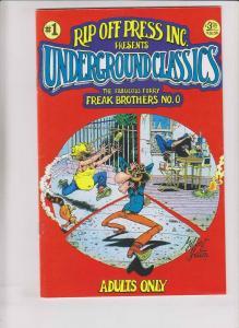 Underground Classics #1 VF (5th) print - freak brothers #0 - gilbert shelton