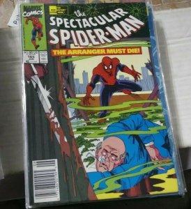 SPECTACULAR  SPIDER-MAN # 165 THE ARRANGER KINGPIN 1ST APP KNIGHT & FOGG