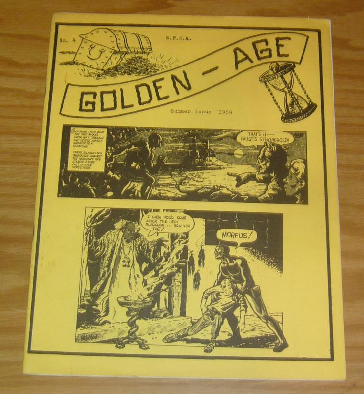 Golden-Age #4 VF- s.p.c.a. wally wood - frank frazetta portfolio - summer 1969