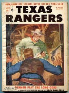 Texas Rangers Pulp September 1956- Jim Hattfield- Western G/VG