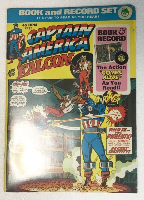 Captain America and the Falcon Book and Record Set PR12