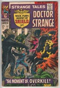 Strange Tales #151 (Dec-66) VF+ High-Grade Nick Fury, Dr. Strange