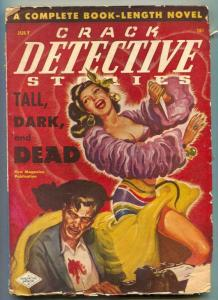 Crack Detective Pulp July 1948- Spicy dancer cover VG-