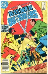 Batman and the Outsiders #12-ORIGIN OF KATANA-ARROW TV SHOW-Newsstand-1984