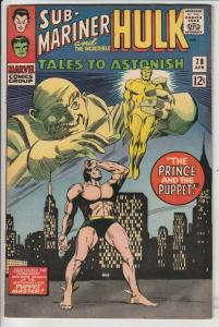 Tales to Astonish #78 (Apr-66) VF/NM High-Grade Incredible Hulk, Namor the Su...
