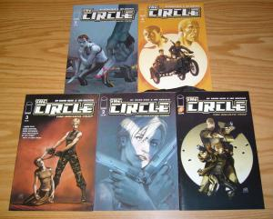 the Circle: the Goliath Trap #1-5 VF/NM complete series - brian reed - mercenary