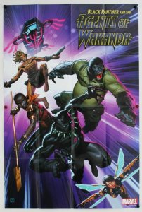 Black Panther & Agents of Wakanda Folded Promo Poster [P68] (36 x 24) - New!
