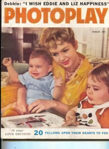 Photoplay-Debbie Reynolds-Marilyn Monroe-Roger Smith-Edd Byrnes-Aug-1959