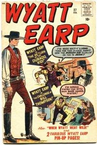 WYATT EARP #27-DICK AYERS ART-GUNHAWK-ATLAS / MARVEL-1959-PIN UP PAGES