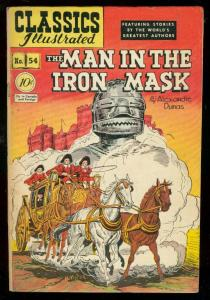 CLASSICS ILLUSTRATED #54 HRN 55-MAN IN THE IRON MASK-1 FN