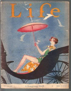 Life 7/27/1926-platinum age cartoonists-Charlie Price-L Fellows-Herb Roth-VG