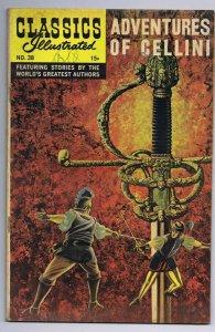 Classics Illustrated Adventures of Cellini #38 HRN 164 Vintage Comic Book