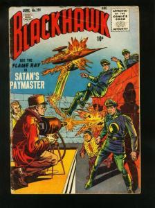 BLACKHAWK COMICS #101 1956-FLAME RAY-SATANS PAYMASTER-QUALITY COMICS-  vg VG