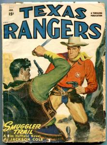 Texas Rangers Pulp January 1948- Jim Hattfield- Smugglers Trail G