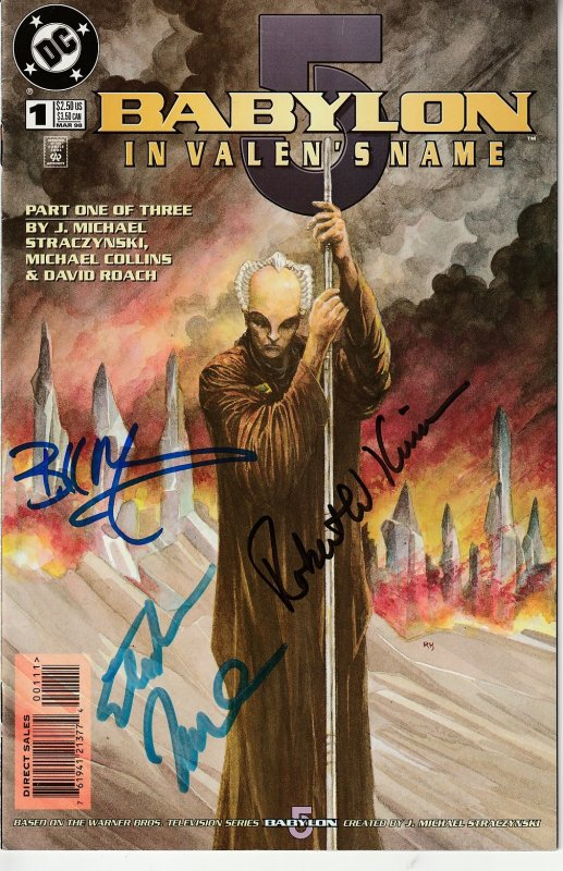 Autographed Babylon 5 – In Valen's Name # 1, 2