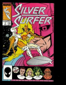 Lot Of 7 Silver Surfer Marvel Comics # 1 2 3 46 '89 '91 137 Science-Fiction JF2
