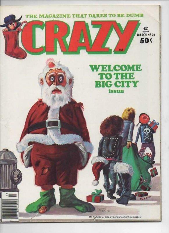 CRAZY #23 Magazine, FN+, Happy Days, Santa, 1973 1977, more in store