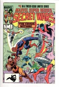 MARVEL SUPER HEROES SECRET WARS 3; NM+ 9.8 1st APP.VOLCANA