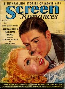 Screen Romances 8/1938-Dell-Alice Faye-Tyrone Power-Ronald Reagan-G/VG