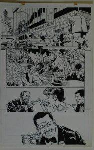DICK GIORDANO / MIKE DeCARLO original art, SLIDERS Armada #2 pg 22,11x17, Eating