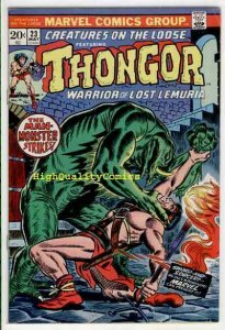 CREATURES on the LOOSE #23, VG/FN, Thongor, Val Mayerik, 1971, more in store