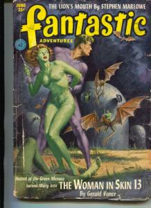 Fantastic Adventures Pulp 6/52 -Russell Branch-Paul W. Fairman