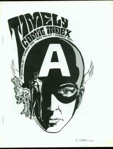Timely Comic Index by Mike Nolan- Fanzine Captain America Human Torch 1969