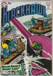 Blackhawk #128 (Sep-58) FN+ Mid-High-Grade Black Hawk, Chop Chop, Olaf, Pierr...
