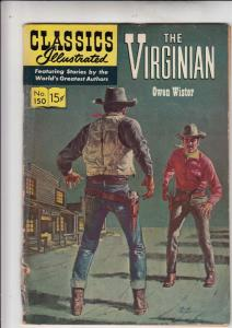Classics Illustrated #150 (May-59) VG Affordable-Grade The Virginian