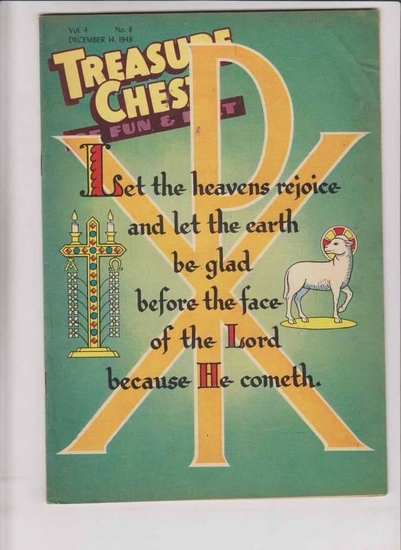 Treasure Chest of Fun & Fact vol. 4 #8 FN december 14, 1948 - catholic comic