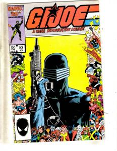 Lot Of 10 GI Joe Marvel Comic Books # 53 57 58 61 63 64 65 66 68 72 Duke J319