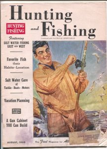 Hunting and Fishing 8/1950-National Sportsman-game laws-info-pix-ads-FR/G