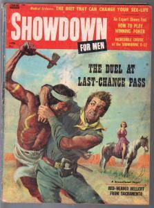Showdown For Men 4/1958-Sterling-Laurel Lavell-cheesecake-exploitation-G