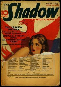 The Shadow Pulp April 1 1938- Crimson Phoenix- Maxwell Grant reading copy