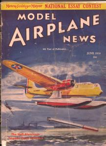Model Airplane News 6/1938-Hall-Aluminum XPTHH-2 cover-Josef Kotula-FR/G