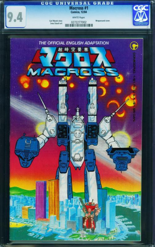 MACROSS #1 cgc 9.4 1984-First ROBOTECH comic book- 0272277002