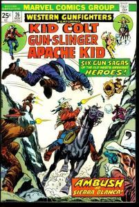 WESTERN GUNFIGHTERS #26-KID COLT/APACHE KID/ETC VF