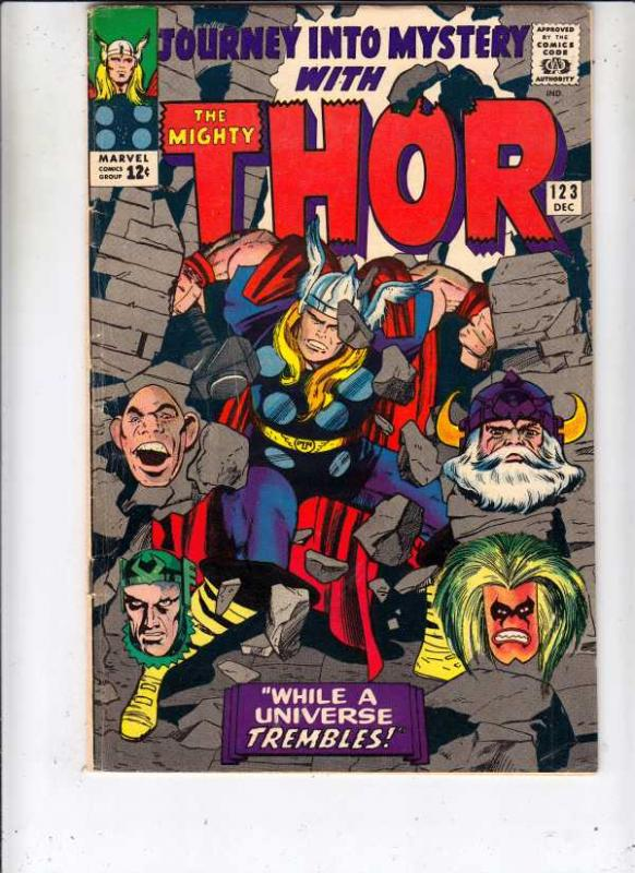 Journey into Mystery #123 (Dec-65) FN/VF- Mid-High-Grade Thor