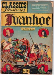 Classics Illustrated #2 (Dec-69) GD Mid-Grade Ivanhoe