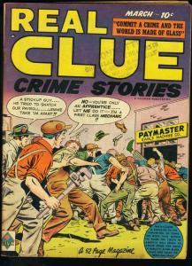 REAL CLUE CRIME STORIES V4 #1 RASPUTIN 1948 VG