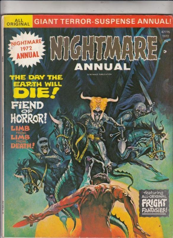 Nightmare Magazine Annual 1 VF+ 8.5 strict High-Grade  Free US  C'ville Coll