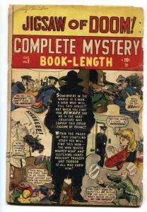 Complete Mystery #2 1948-Marvel-horror-Jigsaw of Doom-Syd Shores-G-