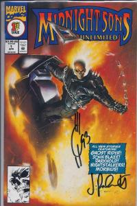 Midnight Sons Unlimited #1 Ghost Rider Comic Book Signed
