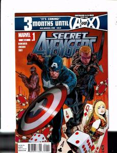 Lot of 5 Secret Avengers Marvel Comic Books #21.1 22 24 26 28 MS18