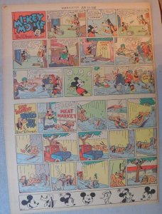 Mickey Mouse Sunday Page by Walt Disney from 6/30/1940 Tabloid Page Size