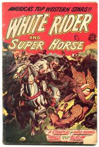 White Rider and Super Horse #5 1950-LB Cole cover- g/vg